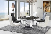 home furniture Dining Room Chairs High Back comfortable chair Restaurant chairs pouf with Stainless steel legs stool ST516
