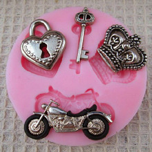 New Arrival Motorcycle Key shape Silicone Mold Cake Decoration Fondant Cake 3D Food Grade Soap Chocolate Moulds