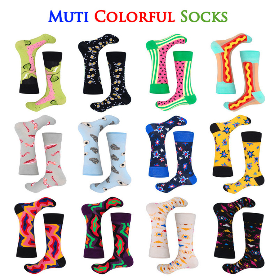 United Men Funny Colorful Animal Novelty Socks Casual Cotton Happy Socks Dress Wedding Socks Clacetines Hombre Divertidos Men's Socks