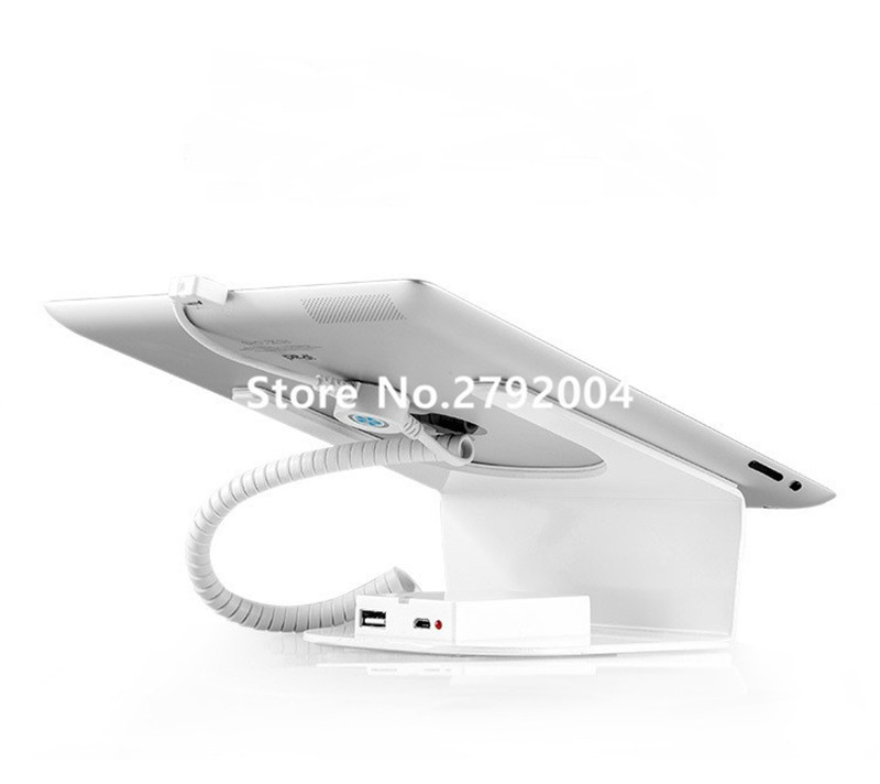 10 pcs/lot 2017 new high quality tablet pc alarm display security charging stand white color remote disalarm<br>