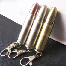 Novel bullet shaped waterproof matches,Outdoor kerosene briquet,Cool gasoline lighter pendant key buckle