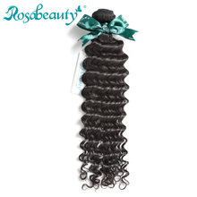 Rosa Beauty Hair Products Malaysian Hair 100% Deep Wave Weave Human Hair Bundles Natural Color Remy Hair Extensions