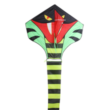 15m Long Tail Large Kite Toy Fun Triangle Kids Outdoor Sports Game Snake Shape Flying Kite Easy to Fly Without Flying Tool
