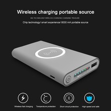 Buy 8000mah Qi wireless Power Bank Portable Power Source Wireless Charger Samsung/iphone Qi Standard Smart Devices for $20.36 in AliExpress store