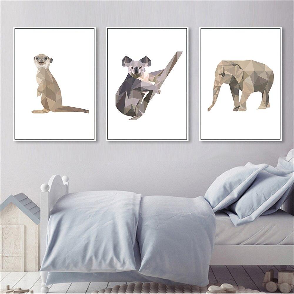 Estilo-n-rdico-Geometria-Abstrata-Animais-Macaco-Pintura-A-Arte-Da-Parede-Da-Lona-Retratos-Da (2)