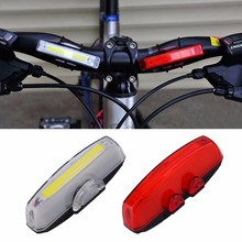 1 Set Bicycle Bike Front Rear Tail LED Light Mini Taillight USB Rechargeable Fits for 12-32mm handlebar Hot Sale