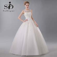 Buy Wedding Dress 2017 SoDigne Beaded Vestido De Noiva Romantic Lace Applique Lace-Up Elegant Custom Made Line Bridal Gown for $130.56 in AliExpress store