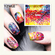 YZWLE 1 Sheet DIY Decals Nails Art Water Transfer Printing Stickers Accessories For Manicure Salon (YZW-156)(China)
