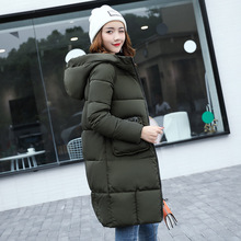 2017 Women Winter jackets Women's Clothing Cotton-padded Jacket Hooded Outerwear Hot Sale winter new down long Coat Parka