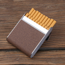 20pcs cigarette high-grade Pu leather metal cigarette case,Anti-squeeze thin cigarette box(China)