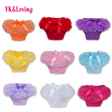 Baby Cotton Bloomers Diaper Cover Newborn Cute Tutu Ruffled Panties 7 Colors Baby Girls Lace Crumple 2017 Hot Retail Baby Shorts(China)