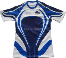 Fast Delivery DHL Navy Blue White Royal Reglan Sleeve Rugby Shirts For School Teams