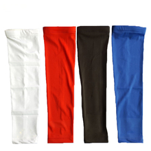 1 Pair volleyball arm sleeves Basketball Barcer Bar Lengthen Armguards High Elastic Sport Elbow Pad Sleeve Arm Warmers elbow pad(China)