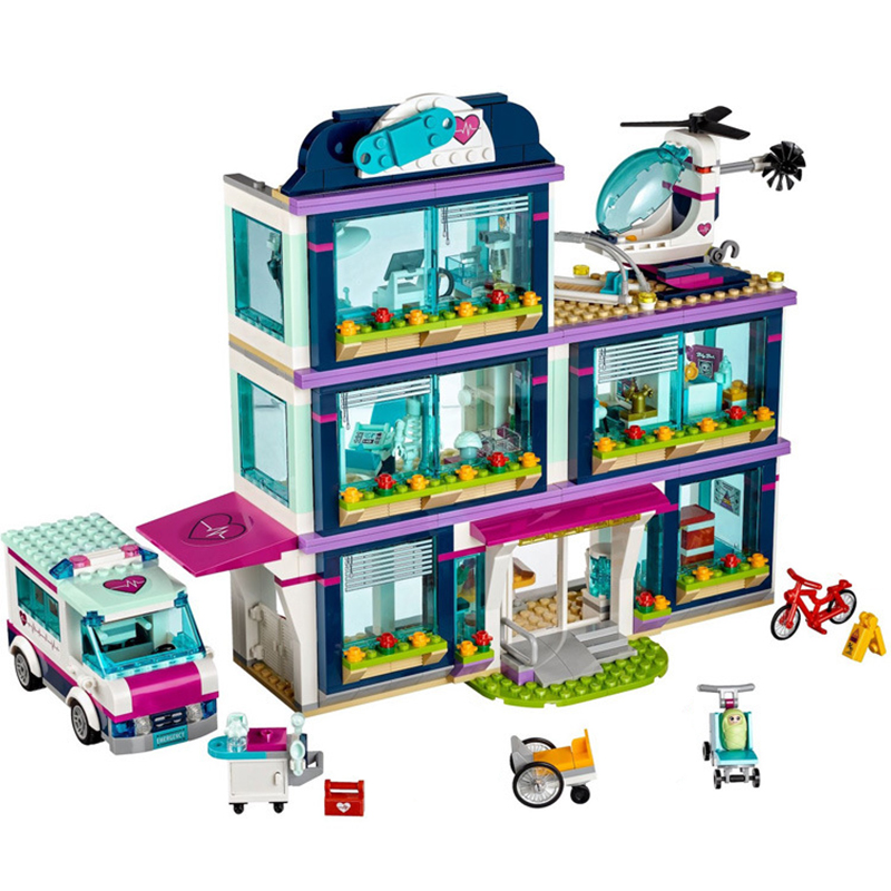 01039 City Friends Girls Lepin Building Blocks Toys Heartlake Hospital Kids Bricks DIY Toys Girls Birthday Gifts Legoingly 41318<br>