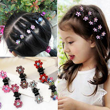 Buy 12 Pcs/Lot New Baby Kid Child Crystal Flower Mini Barrettes Hair Claw Clamp Girls Hair Clip Hair Pin Hair Accessories for $1.49 in AliExpress store
