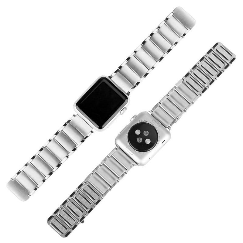 Luxury stainless steel watch band for apple series 1 2 3 watch strap 38-42 mm reloj hombre marca de lujo heren horlogewatcha bracelet (9)
