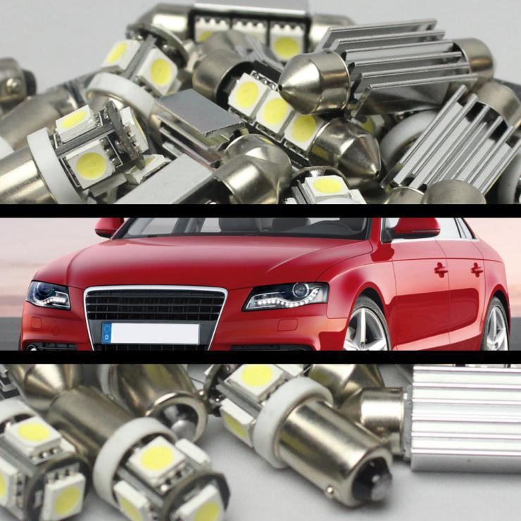 #61 ERROR FREE CANBUS 15pcs LED Interior Deal For Audi 02-08 A4 or S4 (B6 & B7)(China)