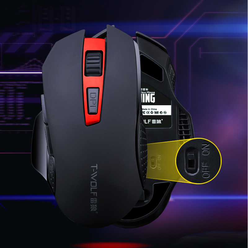 T-WOLF Q11 Mute Wireless Gaming Mouse 2400 DPI (7)