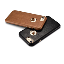 XOOMZ for iPhone 7 7Plus Case Retro PU Leather Back Case for iPhone 7 Plus Cell Phone Protective Cover Black Brown Coffee Red