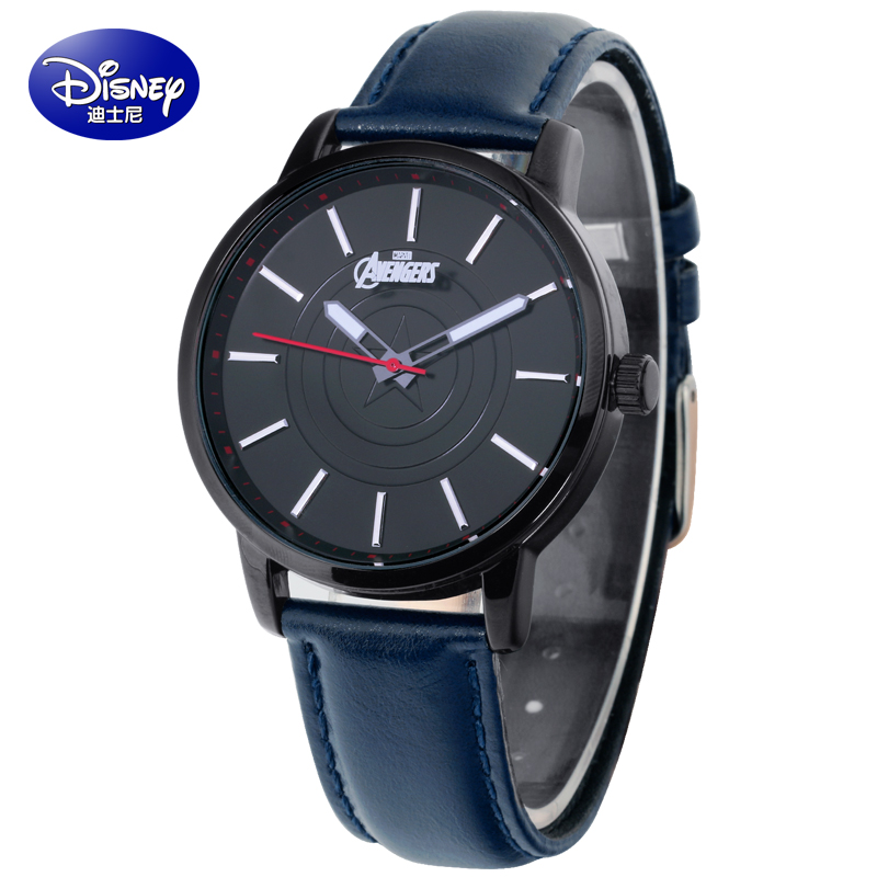 2017 New fashion Disney brands boys watches Mens quartz watch Leather waterproof Male wristwatches student boy relogio clocks<br>
