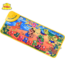 Cheap children carpet baby play developing mat play rug puzzle mat for children baby toys music play mat kids rug toys Animals(China)