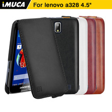 "Buy iMUCA Phone Cases Lenovo A328 Case PU Flip Leather Case Cover Lenovo A328 A328T Back Cover 4.5"" Protective Skin Shell for $5.99 in AliExpress store"