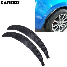 KANEED Car Fender Flares Arch Wheel Eyebrow Protector Auto Fender Side Stickers Rubber Guard Protection Strip Truck SUV Sticker(China)
