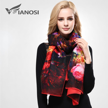 [VIANOSI] Newest Design Bandana Printing Winter Scarf Women Shawls Thicken Warm Scarves Wool Brand Scarf Woman Wrap VD070(China)