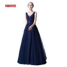New arrival sexy party evening dresses Long dress Vestido de Festa A-line appliques beading gown V-neck dress free shipping