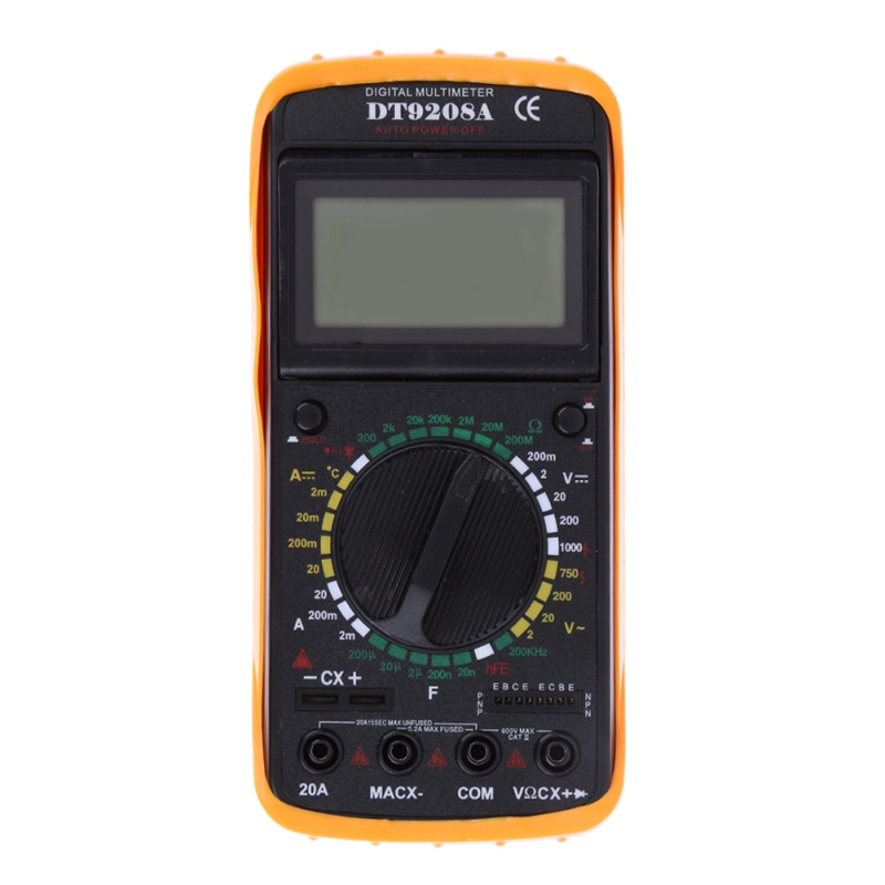 DT9208A LCD Display Professional Handheld Voltmeter Ammeter Ohmmeter Capacitance Meter Tester Digital Multimeter<br><br>Aliexpress