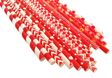 DHL Free Shipping 2000pcs Red Paper Straws Bulk,Stripe Dot Chevron Checkered Star Snowflake Daisy Christams Party Decorations(China)
