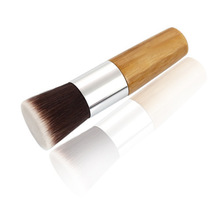wholesale Flat Head Loose Paint Brushes Excellent facial care Makeup Beauty Cosmetics Powder Brush 100pcs/lot free DHL shipping
