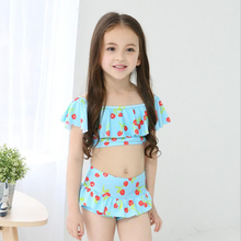 2017 Latest Bikini Swimwear Girl Children Swimsuit Children Swimming Wear Skirt Sexy Bikini Swimsuit Kids Underwear Swimwear