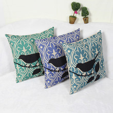 wholesal green blue purple small bird Seat Cushion Without Core Animal Decorative Home Decor Sofa Chair Throw Cushions 18x18inch