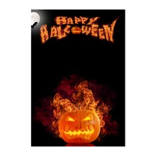 Garden Flags For Happy Halloween Flame Pumpkin Designed With Double Sided Print Decorative Banners Outdoor And Indoor Flag