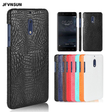 For Nokia 5 Case Luxury Crocodile Skin Hard Case for Nokia 5 Cover SLIM Leather Protective Shell for Nokia 5 Phone Bag Coque(China)