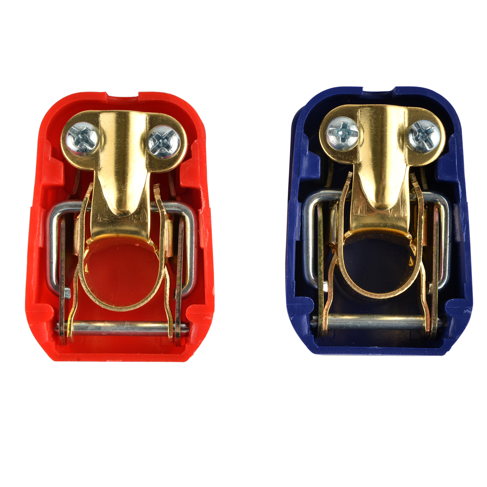 2pcs Quick Release Battery Terminals Clamps Connectors 12V ONE Pair Car Caravan Van Motorhome ON / OFF Snap on