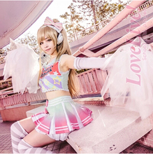 New Cos Minami Kotori Fashion Cheerleading Uniforms Cosplay Love Live! Halloween Jersey Full Set 4in1(Top+Skirts+Gloves+Headwear