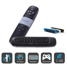 Multi Function Wireless Keybaords Air Mouse Remote Control Rechargeable Laser Pen for Touchpad TV Box Computer