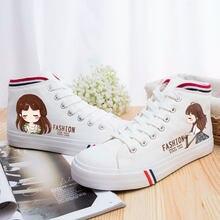 2018 Nouvelles Femmes De Mode de Chaussures Vulcaniser Chaussures Filles  Printemps Eté Casual Toile Chaussures Respirant 3f9a206edf9