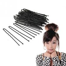 2017 New Arrival Beauty Hair Pins 50pcs/Bag Thin U Shape Hair Bobby Pin Black Metal Clips Health Hair Care Styling Tools