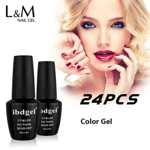 24 Pcs Set Kit Free Shipping Uv Nail Gel Nails Primer Gel Varnish Ibd Gel Polish Led Gels Professional Top Base Coat Soak Off