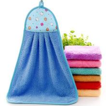 Cute Lovely Cartoon Hand Towel Kitchen Bathroom Coral Fleece 32*46cm Cleaning Washing Hanging Hand Towels Water Absorbent Towels