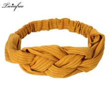 Twist New Arrival Fashion Cotton Winter Headband for Woman and Girl Hair Fashion Turban Headband Headwrap Top Knot Hairband(China)