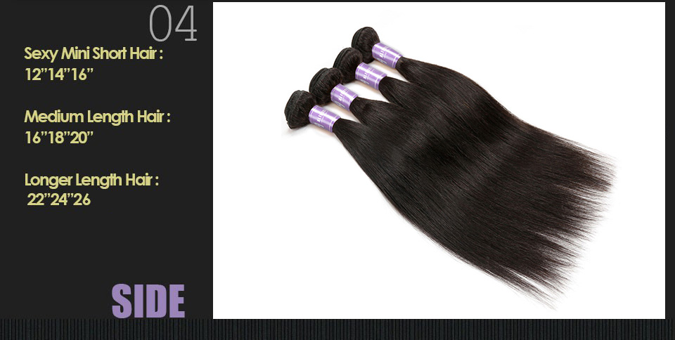 Indian Straight Hair Bundles Human Hair Weave Bundles Non-Remy Hair Extensions Alimice Hair Weaving Double Weft Natural Color (11)