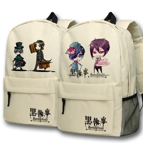Anime Black Butler Cosplay backpack Anime Two Elementary Elementary Junior High School Student Bag Girls Shoulder Bag Backpacker<br>