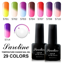 Saroline UV Gel Stencils Nails Semi-permanent Nail Art Led Gel Varnish Temperature Changing Color Gel Nail Polish