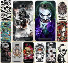 "Case For Fundas Asus Zenfone Max ZC550KL 5.5 "" Colorful Skull Cool Head Painting Hard PC Protector Phone Case Cover Shell Capa"