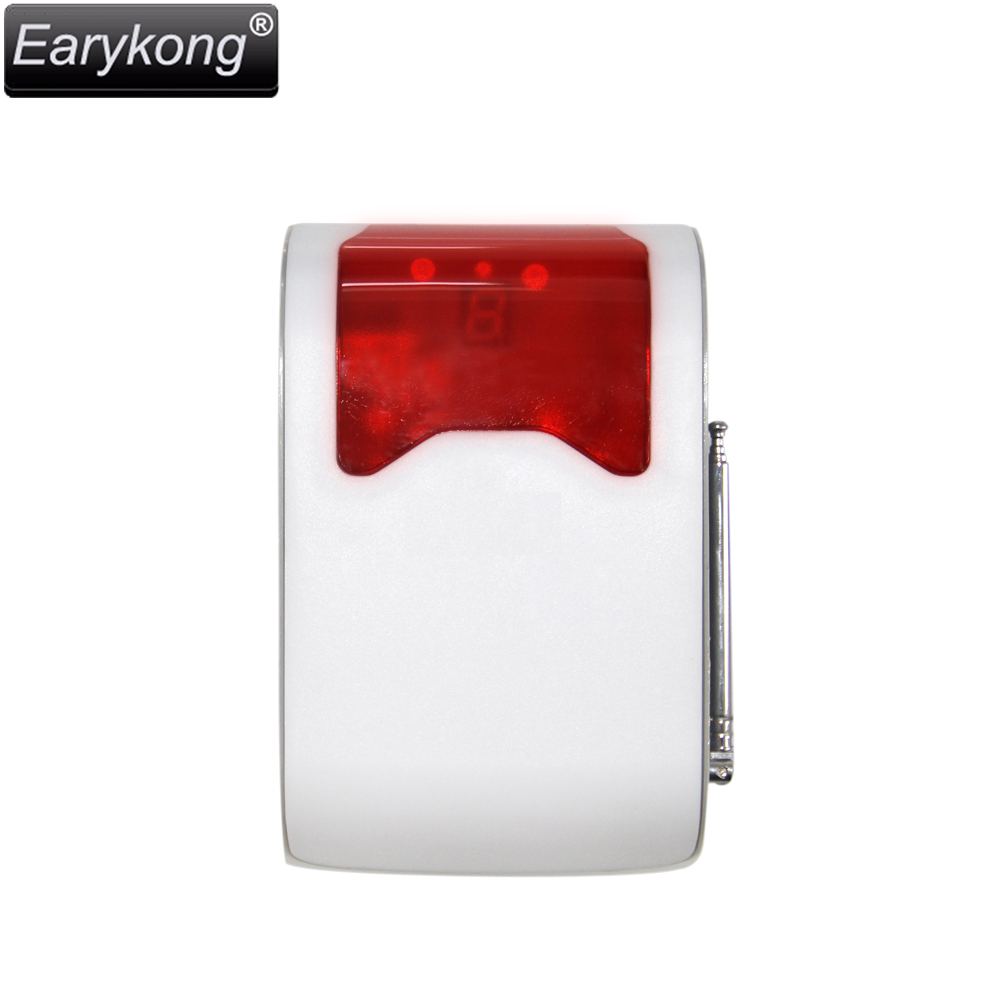 Wireless Strobe Flash Siren 433MHz with LED display the alarm zone number, Long Distance Work And Loud Voice<br>