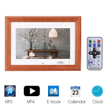 "Andoer 10""  Wood HD LCD Digital Photo Frame1024*600 Support MP3 MP4 Music Movie Player E-book Calendar Clock w/Remote Controller"